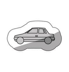Contour side car transport vector