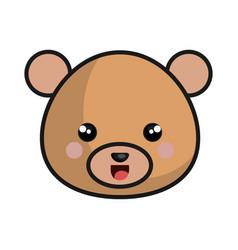 cute bear kawaii style vector image