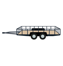 Dump trailer cargo wheel transport vector