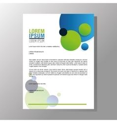 Flyer Headline design Paper icon Colorful design vector image vector image