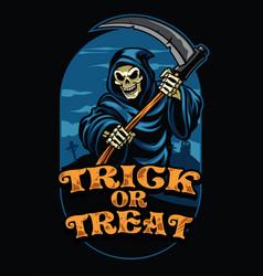 Halloween design of grim reaper vector