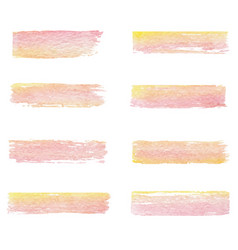 Hand drawn watercolor set of brush textures of vector