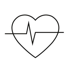 heart cardio icon vector image