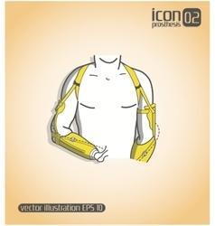 Icon prosthesis vector