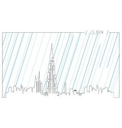 Isolated skyline of du vector image