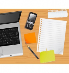 laptop and desk vector image