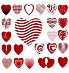 lots of heart designs set 02 vector image