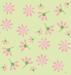 Ornament of pink flowers vector