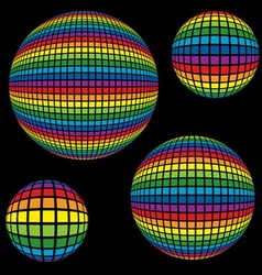 Rainbow Disco Ball vector image vector image