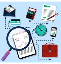 Routine business objects concept vector image vector image