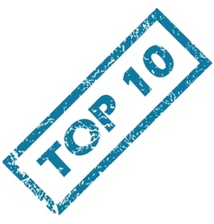 Rubber stamp TOP 10 vector image