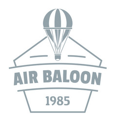 sky air balloon logo simple gray style vector image vector image