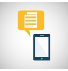 smartphone blue cartoon document bubble speech vector image