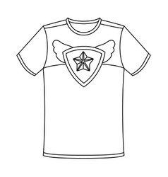 T-shirt fan with printfans single icon in outline vector