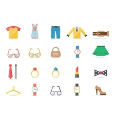 Various Clothing and Accessory Themed Graphics vector image vector image