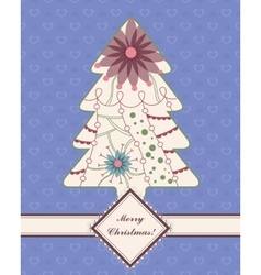 Vintage background with christmas tree vector image vector image