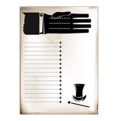 Vintage card male hand vector