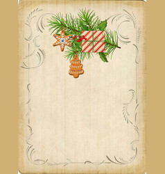 vintage christmas card vector image