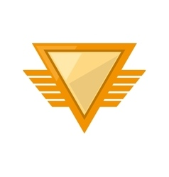 Yellow shield winged shape triangle geometric vector