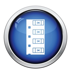 Diode smd component tape icon vector