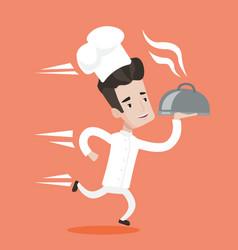Running waiter vector image