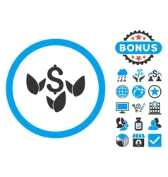 Agriculture startup flat icon with bonus vector