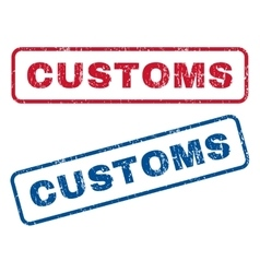 Customs rubber stamps vector