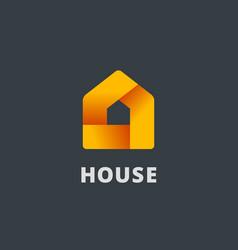Real estate house logo icon design template vector