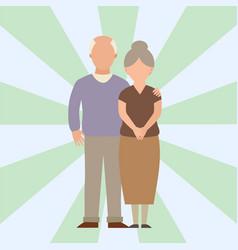 People happy love senior couple cartoon vector