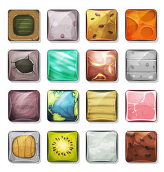 Buttons and icons set for mobile app and game ui vector