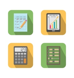 Set of financial business tools vector image