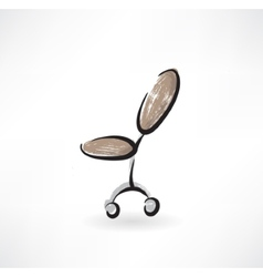 Office chair grunge icon vector