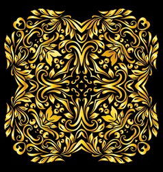 Pattern gold vector image