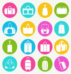 Bags icon set flat 38 vector