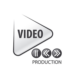 Logo in the form of the play button vector