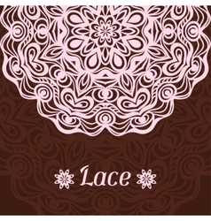 Background with hand drawn ornamental round lace vector