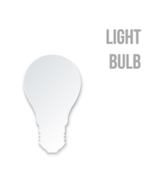 Abstract paper light bulb vector