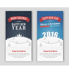 Design banner merry christmas and happy new yea vector