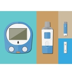 Blood Glucose Test vector image