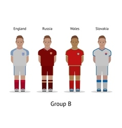Players kit Football championship in France 2016 vector image