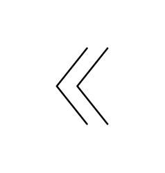 Backward linear icon vector