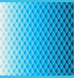 Blue tiled rhombus pattern vector