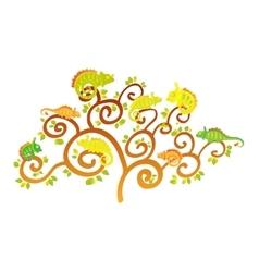 Chameleon tree vector image vector image