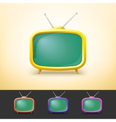 Color tv set in cartoon style vector