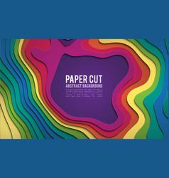 colorful paper cutout paper cut banner concept vector image