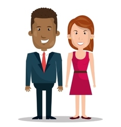 couple relationship design vector image
