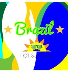 Digital brazil hot summer with sun vector image vector image