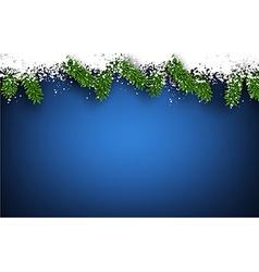 Fir and snow christmas frame vector image