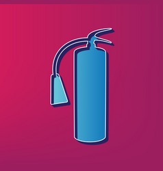 Fire extinguisher sign blue 3d printed vector