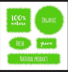 flat grass banner label vector image